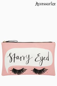 Accessorize Pink Starry Eyed Cosmetic Bag