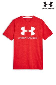 Under Armour Red Logo T-Shirt