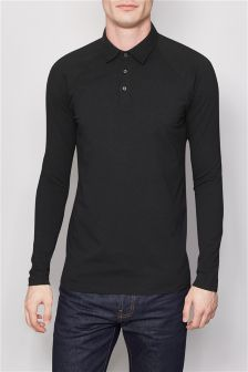 Long Sleeve Muscle Fit Poloshirt