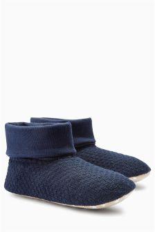 Knit Jersey Slipper Boots