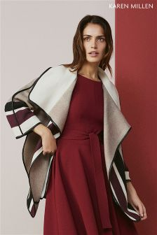 Karen Millen Neutral Cape Coat