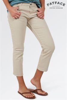 Fat Face Sandstone Garment Dye Cropped Jean