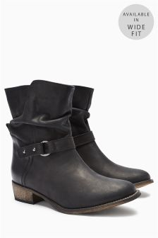 Women Black Ankle Boots - Cr Boot