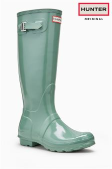 Hunter Original Succulent Green Gloss Tall Welly