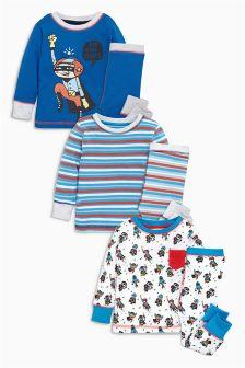 Superhero Pyjamas Three Pack (9mths-8yrs)