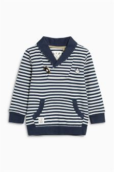 Stripe Shawl Neck Crew (3mths-6yrs)