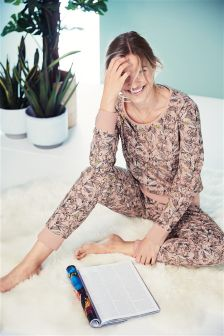 Alll Over Print Cotton Jersey Pyjamas