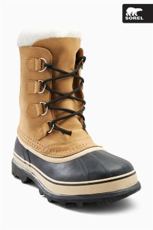 Sorel Tan/Black Caribou Waterproof Boot