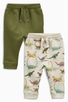 Dinosaur Printed Joggers Two Pack (3mths-6yrs)