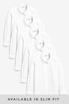 Long Sleeve Formal Blouse Five Pack (3-16yrs)
