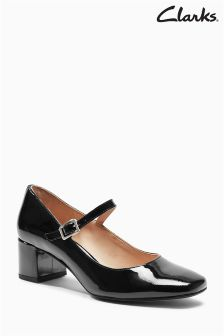 Clarks Black Patent Mary Jane Shoe