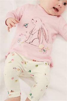 Bunny T-Shirt And Leggings (0mths-2yrs)