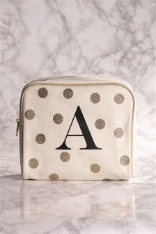 Large Initial Make Up Bag