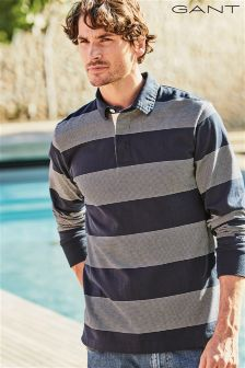 Gant Navy/ Grey Stripe Rugby Shirt