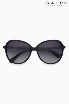 Ralph by Ralph Lauren Black Slim Arm Sunglasses
