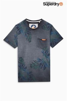 Superdry California Palm Print Pocket T-Shirt