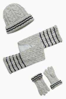 Hat, Gloves And Scarf Set (Older Boys)