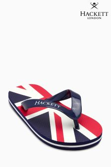 Hackett Red Union Jack Flip Flop