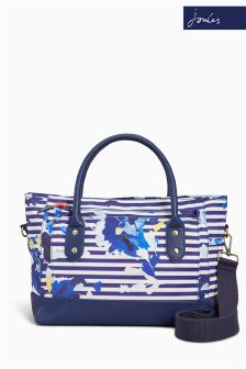 Joules Multi Flo Stripe Printed Coated Canvas Tote Bag