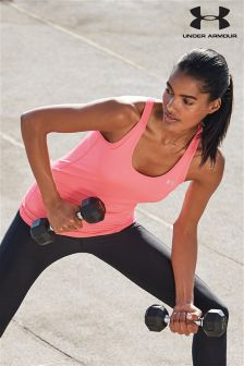 Under Armour Pink Shock HeatGear Racer Tank