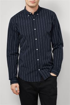 Wide Stripe Long Sleeve Shirt