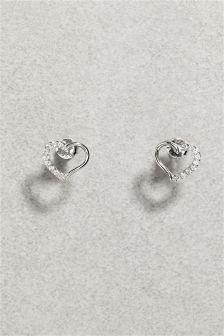 Effect Open Heart Earrings