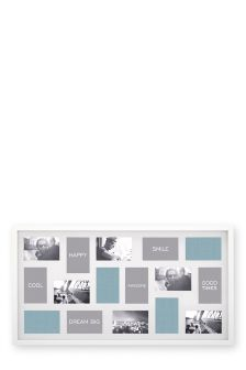 16 Aperture White Gloss Collage Frame