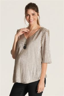 Maternity Metallic Top