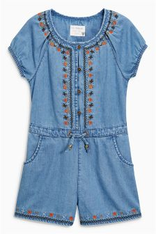 Tencel® Embroidered Playsuit (3-16yrs)