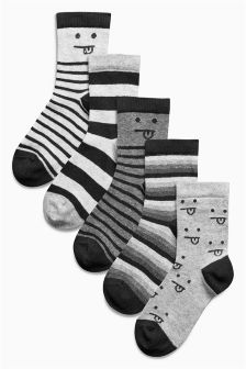 Faces Socks Five Pack (Older Boys)