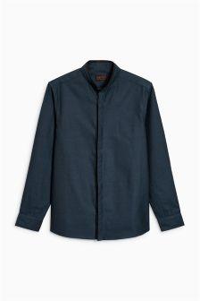 Long Sleeve Smart Contrast Collar Shirt (3-16yrs)