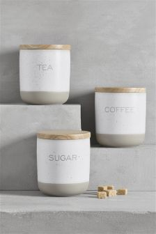 Set Of 3 Fairford Storage Jars