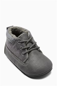 Pram Lace Work Boots (Younger Boys)