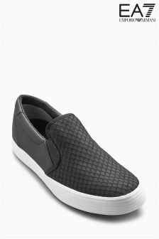 Emporio Armani EA7 Black Mesh Slip On