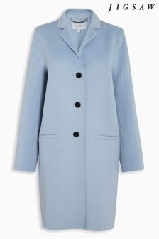 Jigsaw Blue Double Face Oval Coat