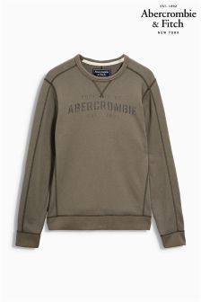Abercrombie & Fitch Khaki Crew Neck Sweater