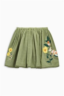 Floral Embroidered Skirt (3-16yrs)