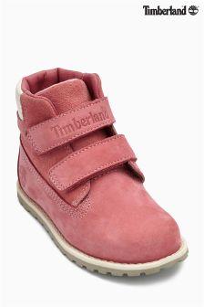 Timberland® Pink Pokey Pine Hook And Loop Chukka