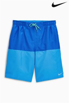 "Nike Blue Split 9"" Volley Swim Short"