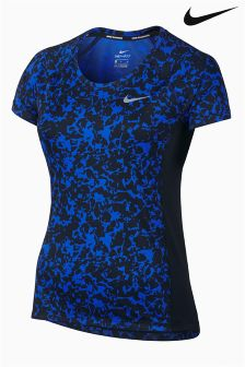Nike Blue/Black Dry Miler Running Top