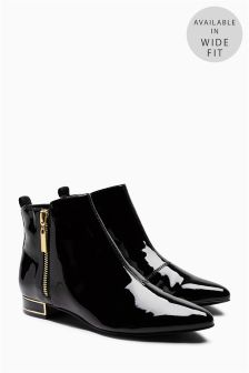 Patent Pixie Boots