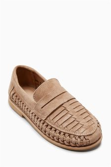 Suede Woven Loafers (Older Boys)