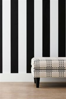 Paste The Wall Monochrome Stripe Wallpaper