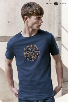 Pretty Green Navy Riley Print T-Shirt