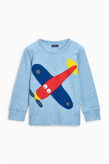 Long Sleeve Aeroplane Top (3mths-6yrs)