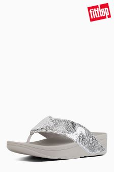 Fitflop™ Silver Swoop Toe Thong