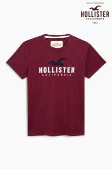 Hollister Burgundy Graphic T-Shirt