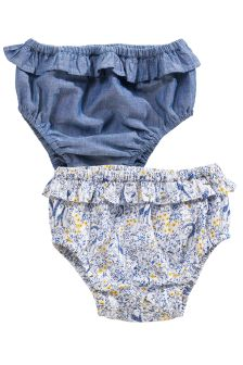 Frill Knickers Two Pack (0mths-2yrs)