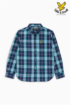 Lyle & Scott Navy Check Shirt