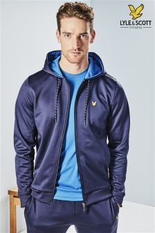 Lyle & Scott Performance Navy Hill Zip Through Hoody